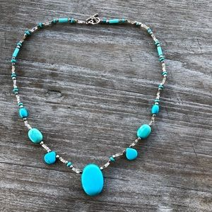 Jewelry - Turquoise Silver Necklace